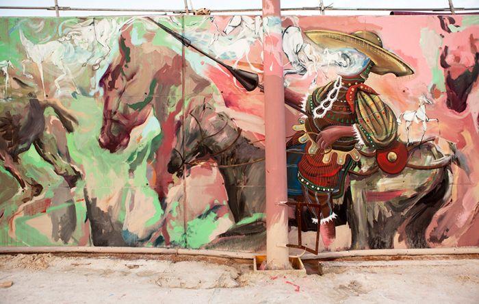 EMILIO CEREZO  with  LAGUNA & SKOUNT   'Don Quijote and his Delusions' ..  [Barcelona, Spain 2015] (center / B)