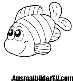 Ausmalbilder Fische Gratis Diy Und Selbermachen Pinterest
