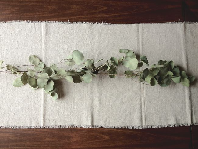 a daily something: diy | canvas drop cloth table runner