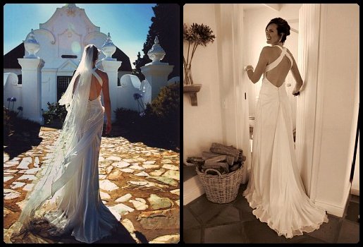 Silk chiffon elegance  www.weddingcouture.co.za
