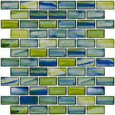 aqua glass tile backsplash kitchen google search - Ubahn Fliese Backsplash Ideen