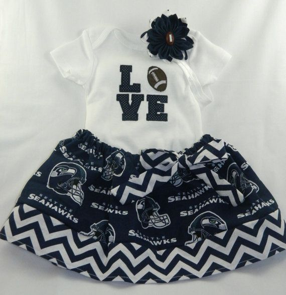 NFL Seattle Seahawks Embroidered onesie by TheVogueBabyBoutique, $40.00