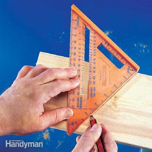 How To Use A Speed Square Woodworking Tools Diy