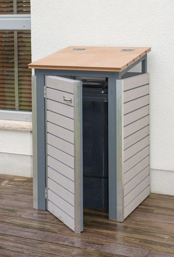 m lltonnenbox selber bauen endzustand mit ge ffneter t r. Black Bedroom Furniture Sets. Home Design Ideas