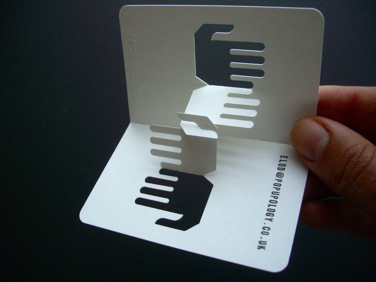3-d business card series VIII - handshake
