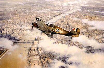 In the azure skies above London and the south-eastern Shires of England during the long, hot summer of 1940, a small band of RAF fighter pilots, substantially out-numbered, and against all odds, flew and fought a savage aerial battle in defence of the Realm Robert Taylor Gallery BFD