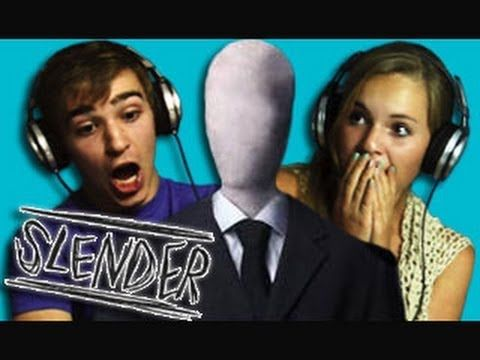 Teens React to Slender- This is SO funny! But seriously, Slender scares the hell outta me!