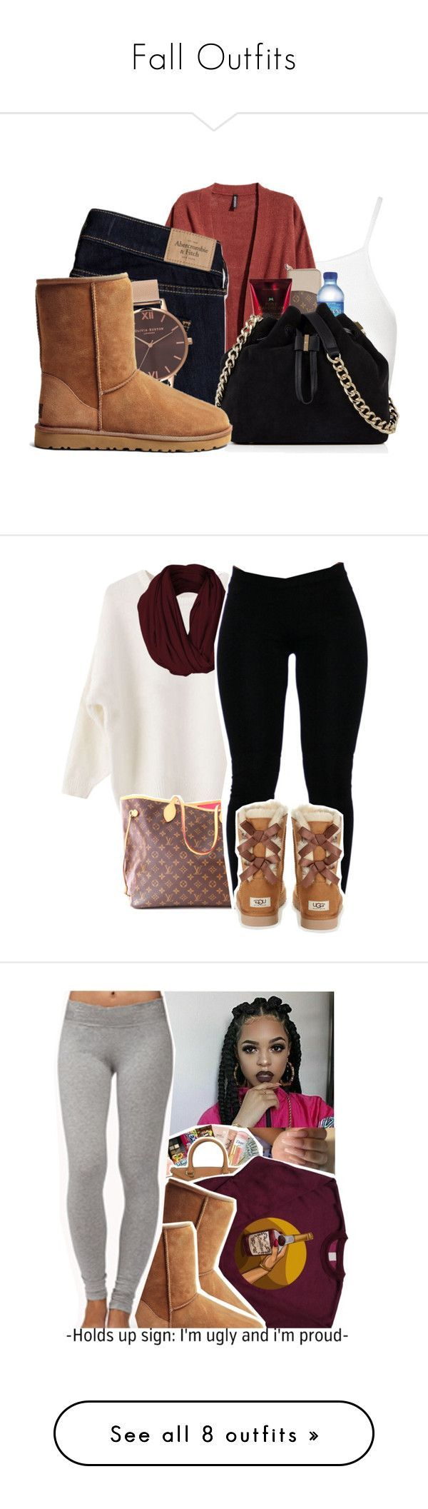 """Fall Outfits"" by uniquee-beauty ❤ liked on Polyvore featuring Topshop, Coach, Abercrombie & Fitch, Olivia Burton, Victoria's Secret, Karen Millen, UGG Australia, Louis Vuitton, Forever 21 and Ralph Lauren"