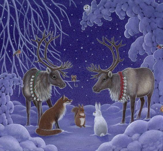 2016/04/15 Reindeer and Animals in Snow - Eva Melhuish - Freelance Illustrator