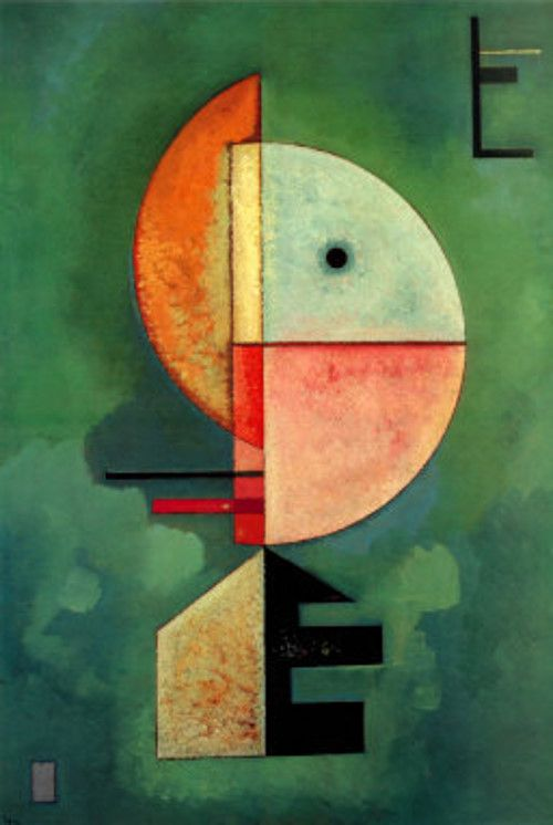 Kandinsky, 'Upward'. 1929, oil on cardboard. Part of the Peggy Guggenheim Collection, Venice.