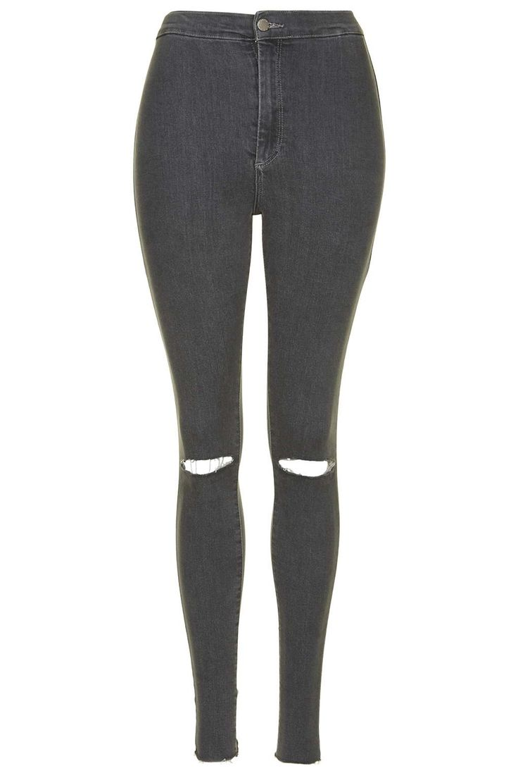Photo 1 of MOTO Grey Ripped Joni Jeans