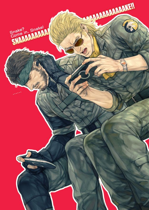 Snake And Kaz Playing PSPs... #MGS