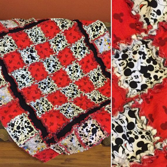 1000 Images About Rag Quilt Mickey Minnie Mouse On