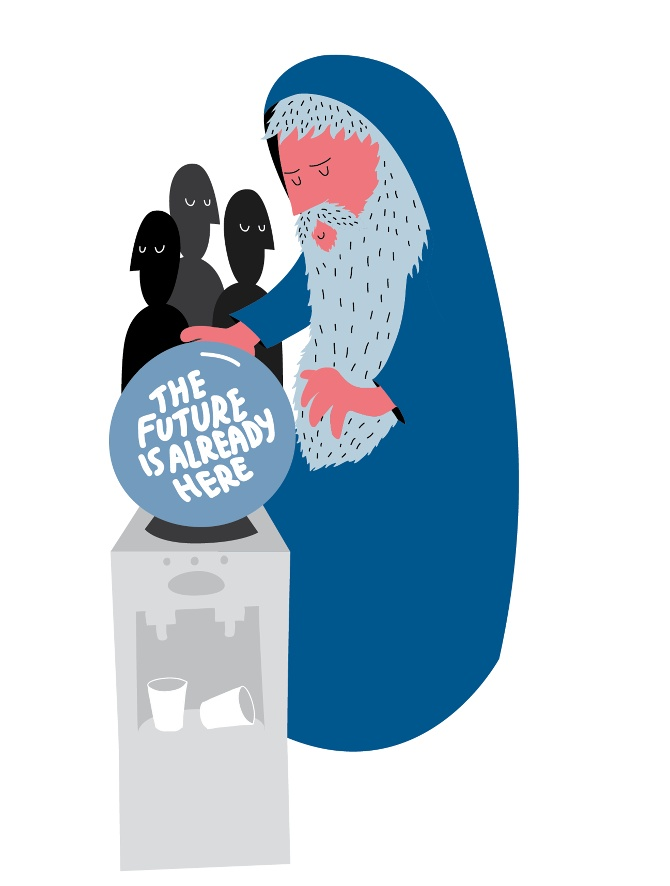 The future is already here - Bucci - Graphic Design + Illustration