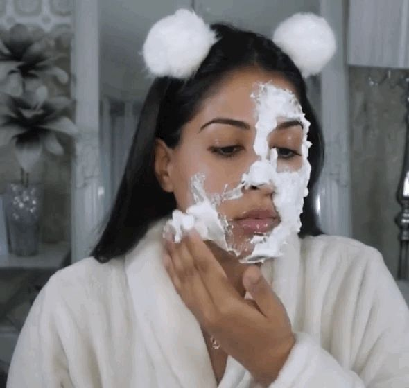 DIY a bubble mask to shrink your pores and tighten your skin. | 7 DIY Beauty Tricks That'll Save You A Trip To The Spa