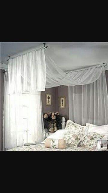 Ikea Lill Curtains Draped Bedroom Decor Canopy Bedroom