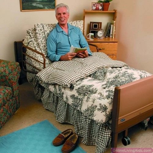 Invacare - BED39LOW-1633 - Low Bed Package, Includes 5410LOW Full-Electric Low Bed, 5180 Foam Mattress, 6632 Assist Rails