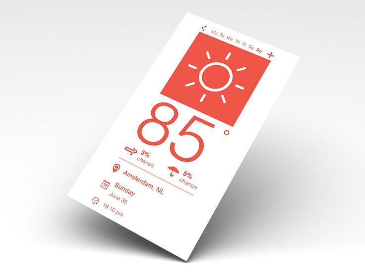 Flat Weather User Interface by Arjan Leeuwinga