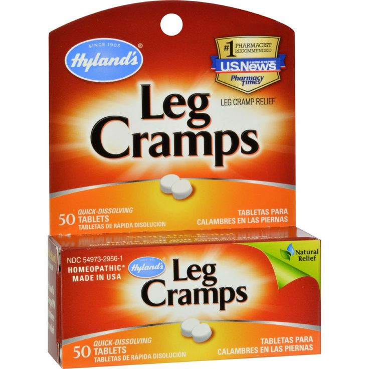 Hylands Leg Cramps - 50 Quick Disolving Tablets - Hylands Leg Cramps Description:    100% Natural  Stop the Pain!  Relax Calf and Foot Cramps Temporarily relieves the symptoms of cramps and pains in lower back and legs.   Hylands Leg Cramps relieves the symptoms of cramps and pains in the lower back legs and feet that can disrupt your life. Americas #1 OTC Leg Cramp Medicine Hylands formula relieves late night charley horse cramps and can be taken day or night without drowsiness. Hylands…