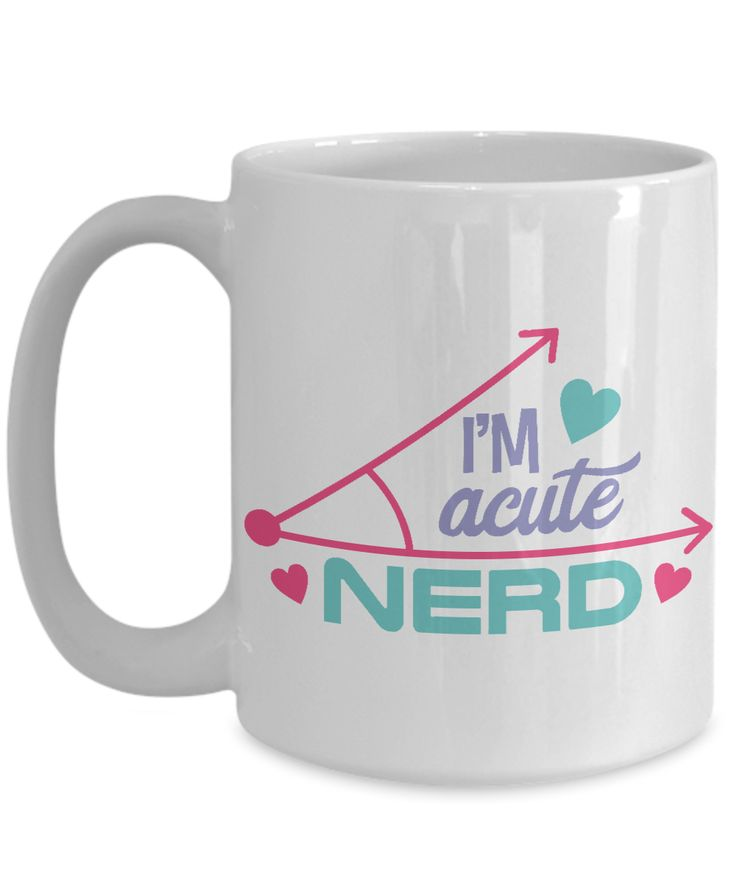 I Am Acute Nerd Smart Girl Boy Kids Funny Wordplay Word Art Coffee Mug White 15 Oz Tea Cocoa Cup Gift Present