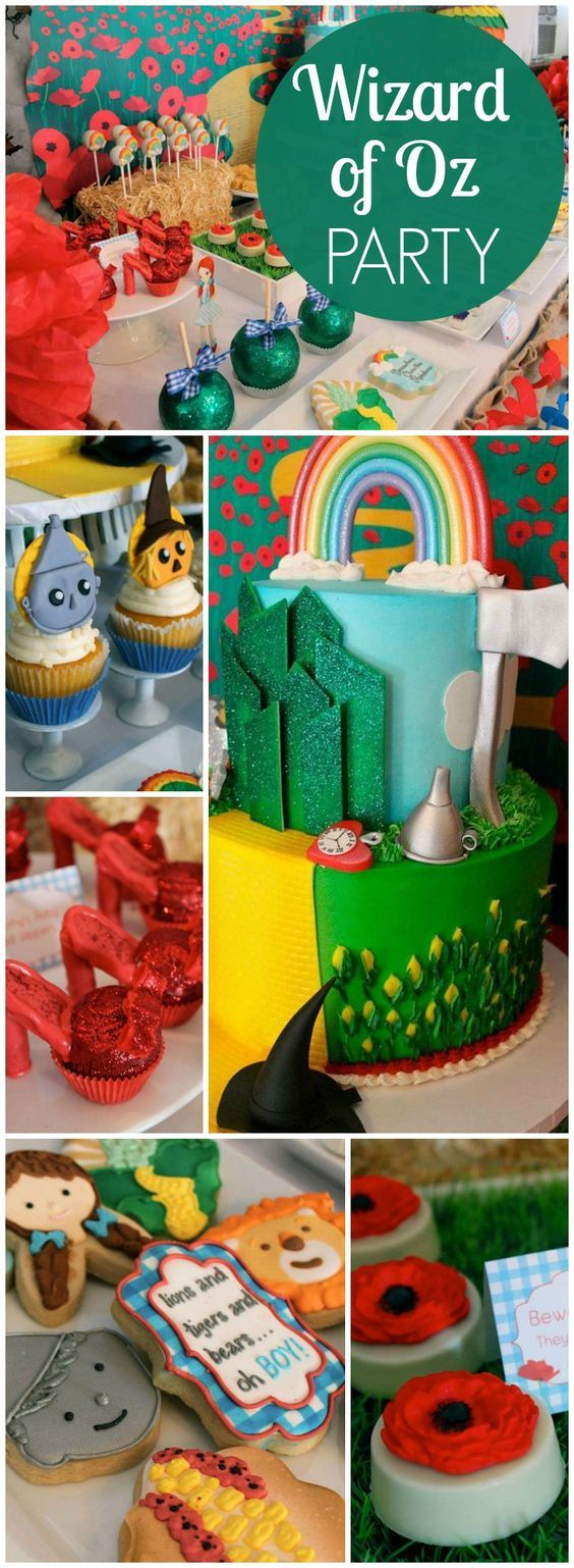 So many amazing details at this Wizard of Oz baby shower! See more party ideas at CatchMyParty.com!