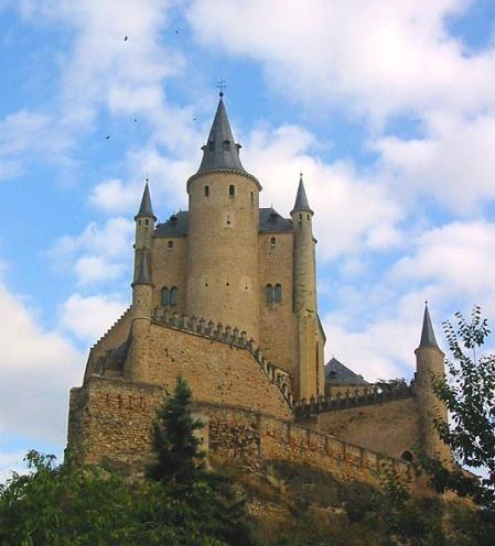 Segovia Castle, Segovia, #Spain ...  The Alcázar of Segovia (literally, Segovia Castle) is a stone fortification, located in the old city of Segovia, Spain.