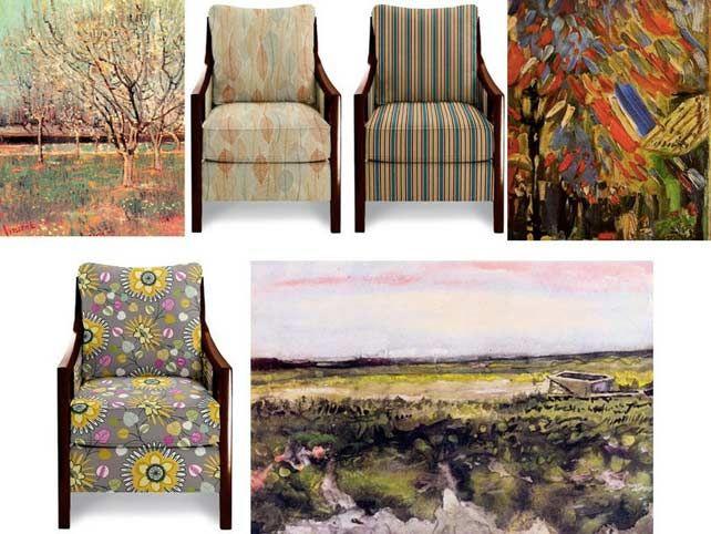 Van Gogh képei és a Keagan fotel - egy festő és egy fotel ezer arca… | Lakberendezés,