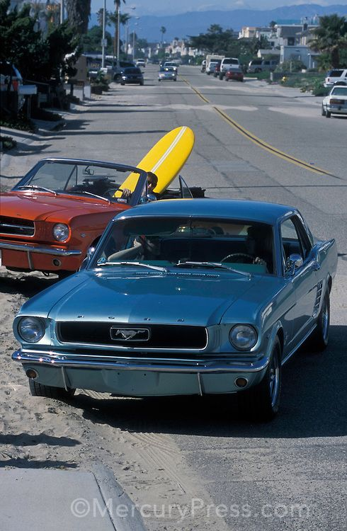 1966 Ford Mustang V8 Coupe and 1964.5 Ford Mustang Convertible.Isaac Hernandez.February 28th, 2004.Photo: © 2004 Isaac Hernandez-Herrero, All Rights Reserved