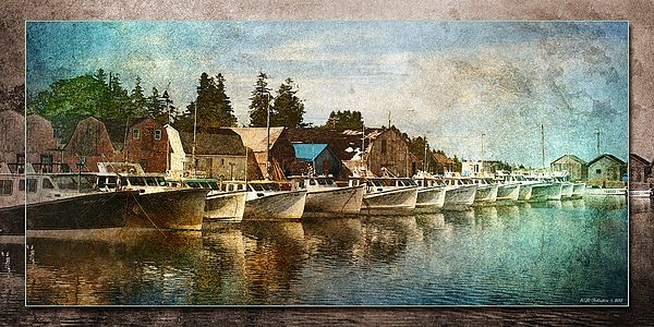Malpeque Harbour 5. Photo art by WB Johnston, available as prints in a large variety of sizes.