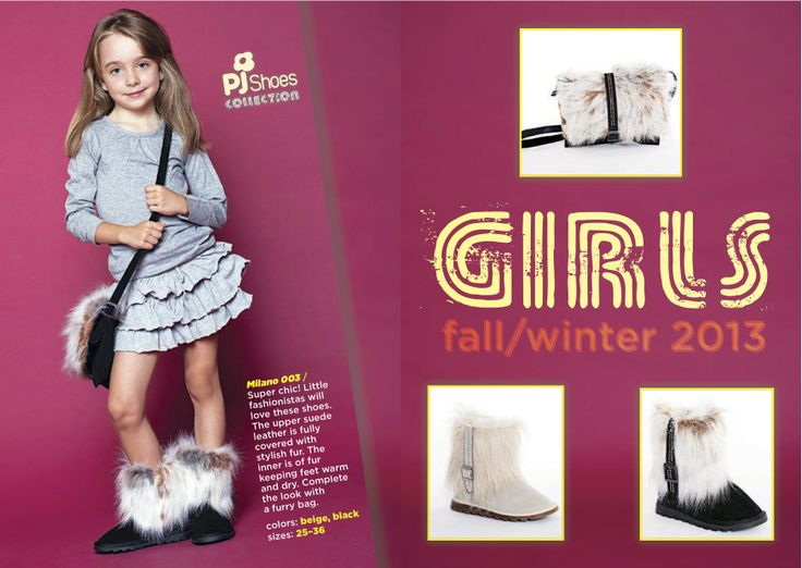 Fur winter girl boots with purse