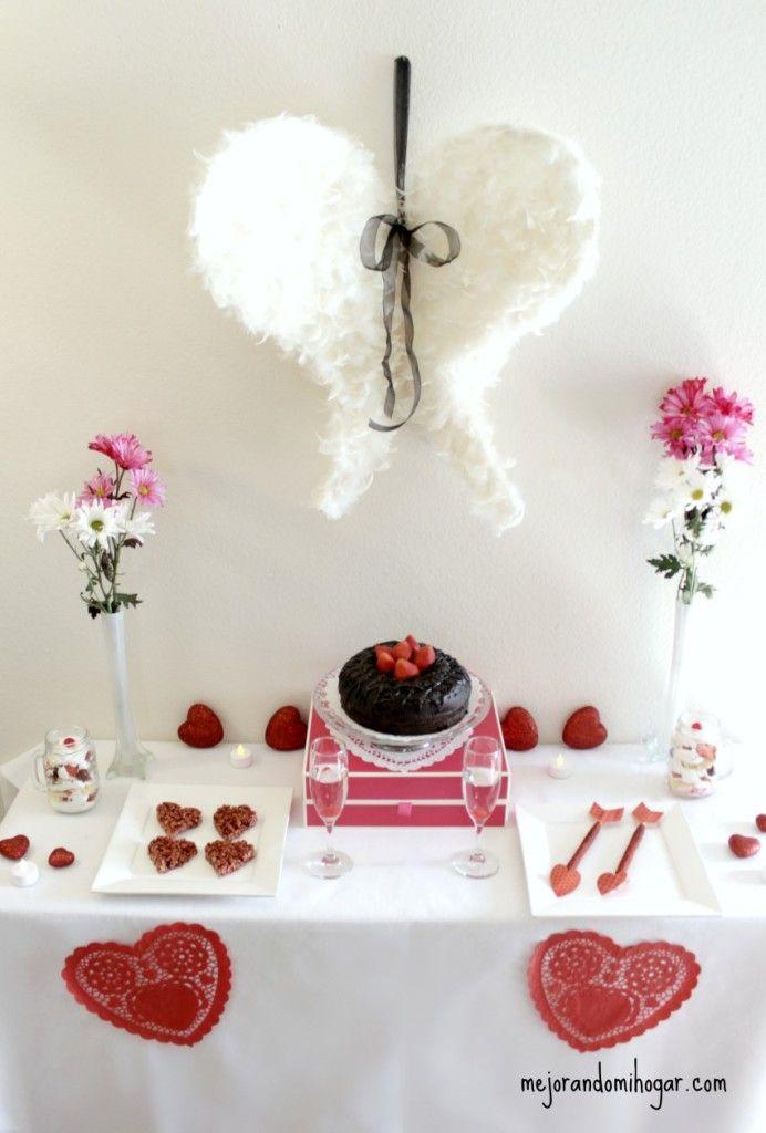 Ideas para Fiesta de San Valentin - Mejorando Mi Hogar http://www.mejorandomihogar.com/ideas-para-fiesta-de-san-valentin/?utm_content=buffer78629&utm_medium=social&utm_source=pinterest.com&utm_campaign=buffer  Dia del amor y de la amistad | Decoraciones | Postres
