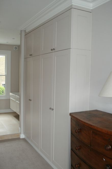 I like the way the skirting is continous around the top of the wardrobe