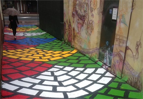 Drew Straker aka Mastermind Murals Pavement
