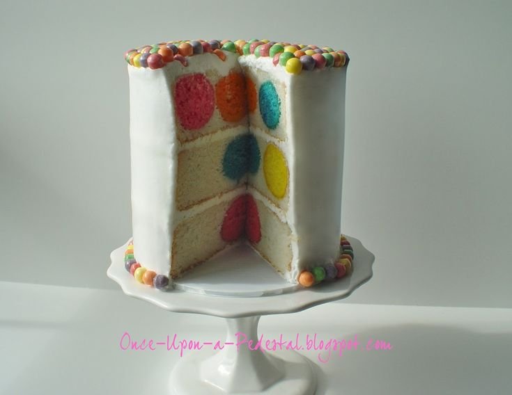 Polka-dot cake: Place already made cake balls inside cake pan with cake batter, then bake!