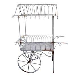 Distressed Metal Garden Cart.