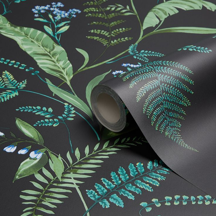 K2 Fern & Flowers Green Floral Wallpaper | Departments | DIY at B&Q