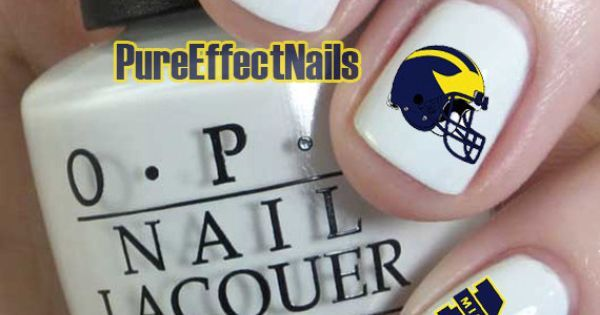 Michigan Wolverines Nail Decals by PureEffectNails on Etsy, $4.00 | GO BLUE!!! | Pinterest | Wolverine Nails, Michigan Wolverines and Nail Decals