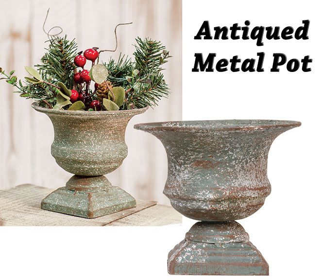$ 12.59  KP Creek Gifts - Antiqued Metal Container