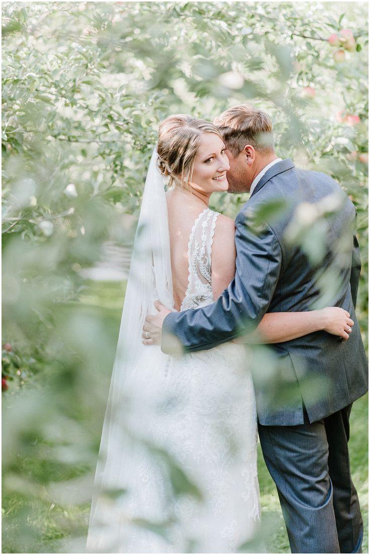 Nicole Jansma Photography Chicago Wedding Photographer Engagement Photographer Rustic Blush Navy County Line Orchard Indiana Wedding Bride Groom Apple Orchard Wedding
