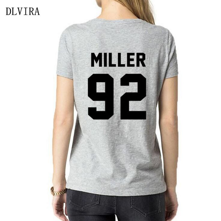 >> Click to Buy << 2017 DLVIRA S-3XL New MILLER 92 Back Print Women T Shirt Casual Cotton Funny Shirt for Lady Tops Tee  #Affiliate