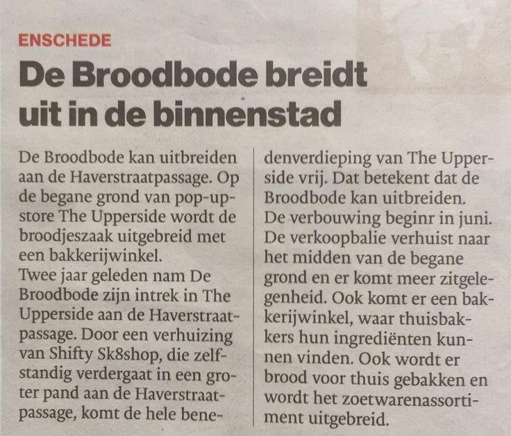 #DeBroodbode  #Haverstraatpassage #Enschede #Tctubantia
