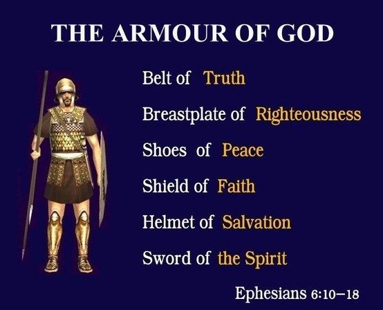 Put God's armor on' | Bible knowledge, Armor of god, Bible