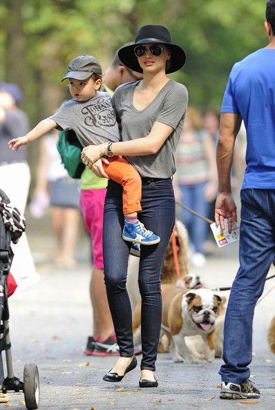 Miranda Kerr and Flynn Stroll Through Central Park
