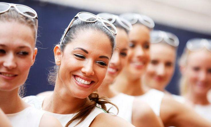 Grid girls of Formula One Monaco Grand Prix 2014