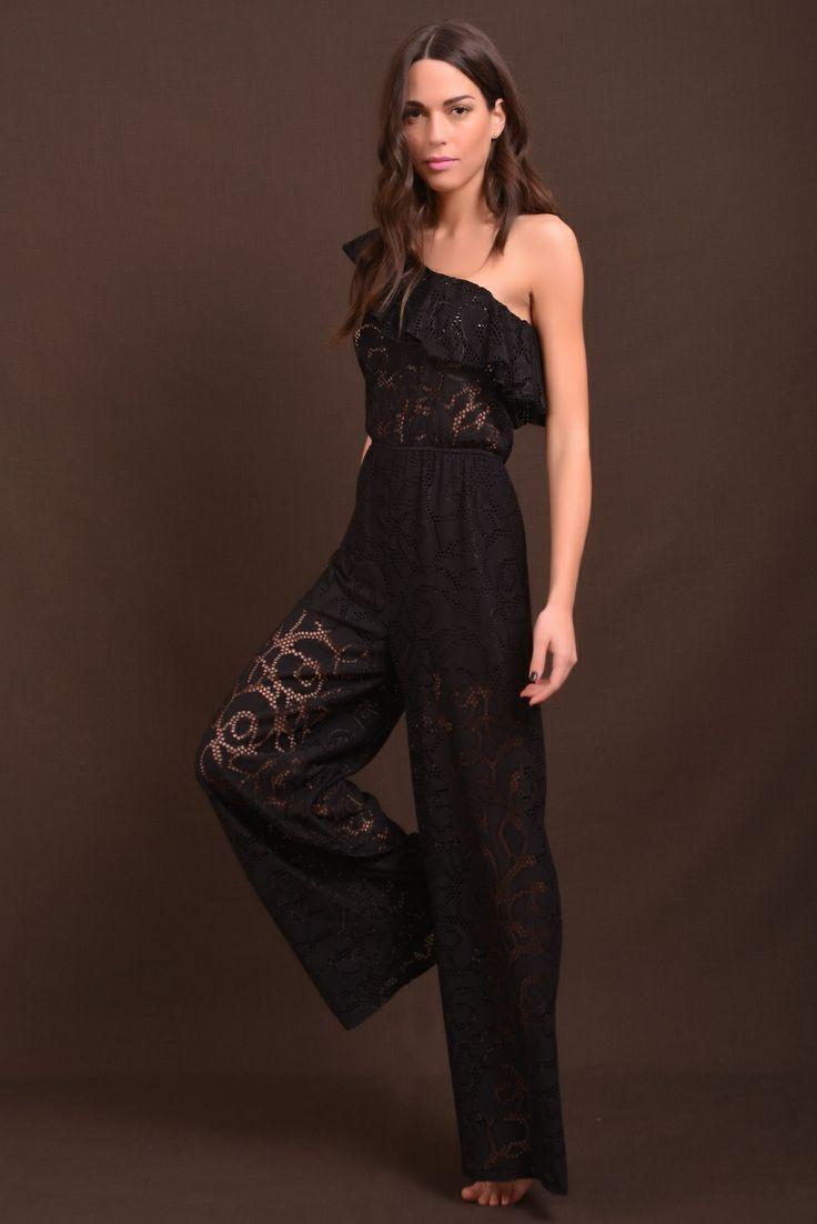 ολόσωμη φόρμα black lace