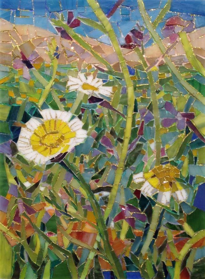 Quot Wildflowers Quot By Larissa Strauss Glass Mosaic 11 Quot X 8