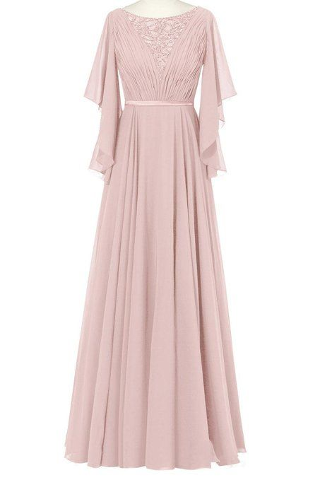 ORIENT BRIDE Women Chiffon Ruffles A-Line Formal Prom Evening Dresses Size 8 US Dusty Rose