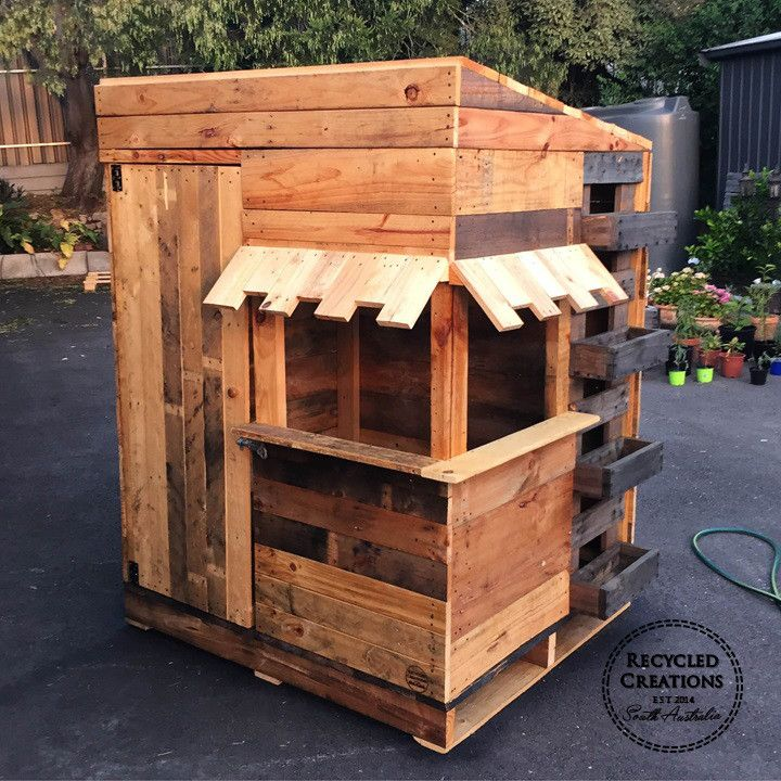 Pallet cubby house | Recycled Creations South Australia | Fullscreen Page