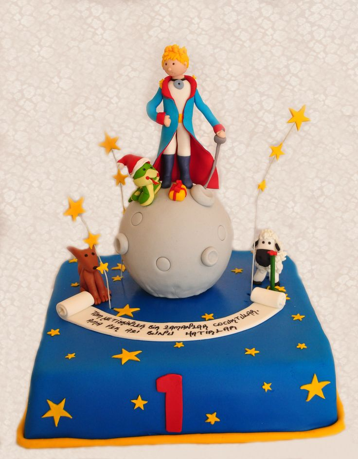 little prince cake ( happy birthday )