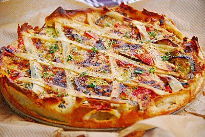 Schafskäse - Zucchini - Quiche